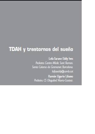 TDAH y trastornos del sueño Book Cover