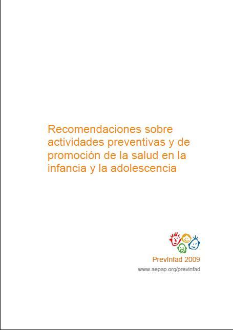 Recomendaciones sobre actividades preventivas y de promoción de la salud en la infancia y la adolescencia. Book Cover
